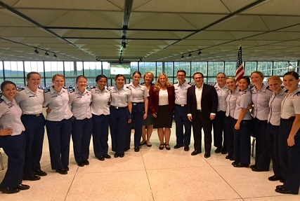 DSPO meets with Air Force Academy cadets