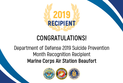 Marine Corps Recipient for the 2019 DoD Suicide Prevention Month Recognition: Marine Corps Air Station Beaufort