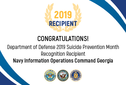 Navy Recipient for the 2019 DoD Suicide Prevention Month Recognition:  Navy Information Operations Command Georgia